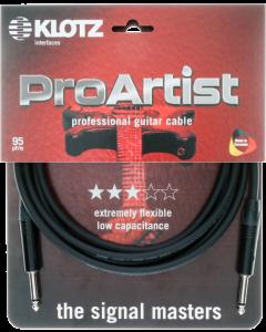 PRO ARTIST câble professionell guitare avec fiches jack