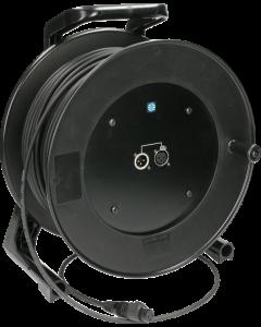 câble microphone sur enrouleur avec Neutrik XLR selon IP65