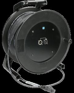 câble microphone sur enrouleur avec XLR Neutrik selon IP65